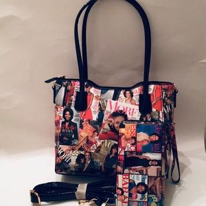 Magazine twin set handbag